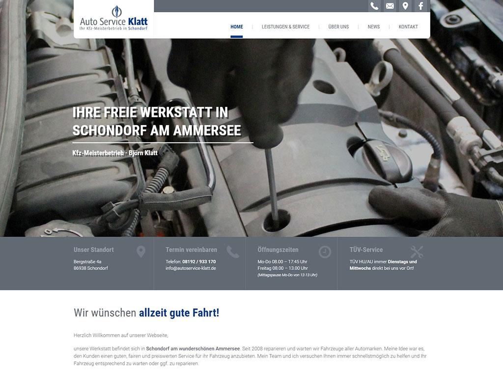 Autoservice Klatt - Webdesign Referenz aus Schondorf am Ammersee