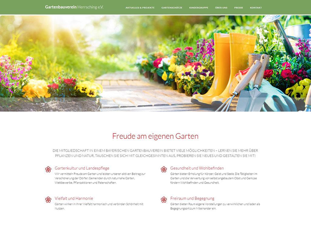 Gartenbauverein Herrsching - Referenz Website Relaunch und Webdesign nach Maß